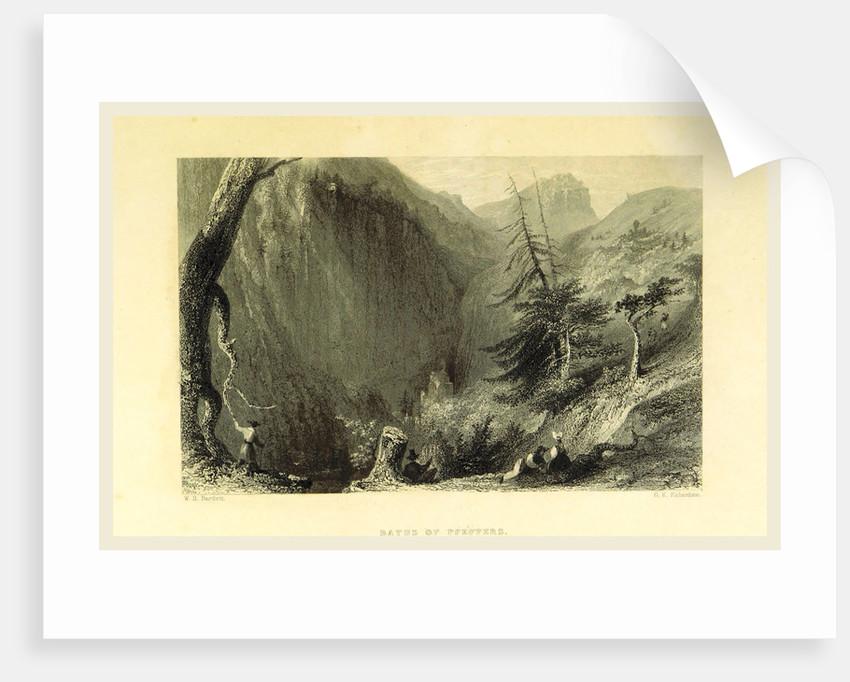 Baths of Pfeffers, Switzerland by W. H. Bartlett