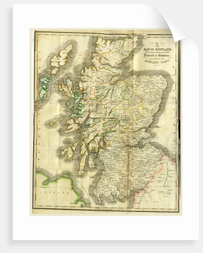 A History of the Highlands and of the Highland Clans, Map of Scotland by Anonymous