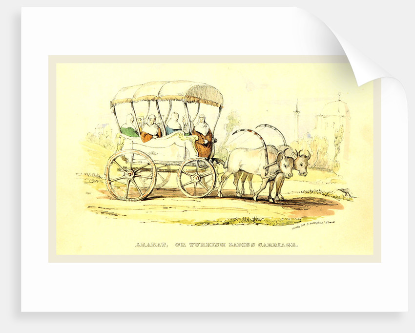 Arabat or Turkish ladies Carriage, Damascus and Palmyra, a journey to the East by W. M. Thackeray