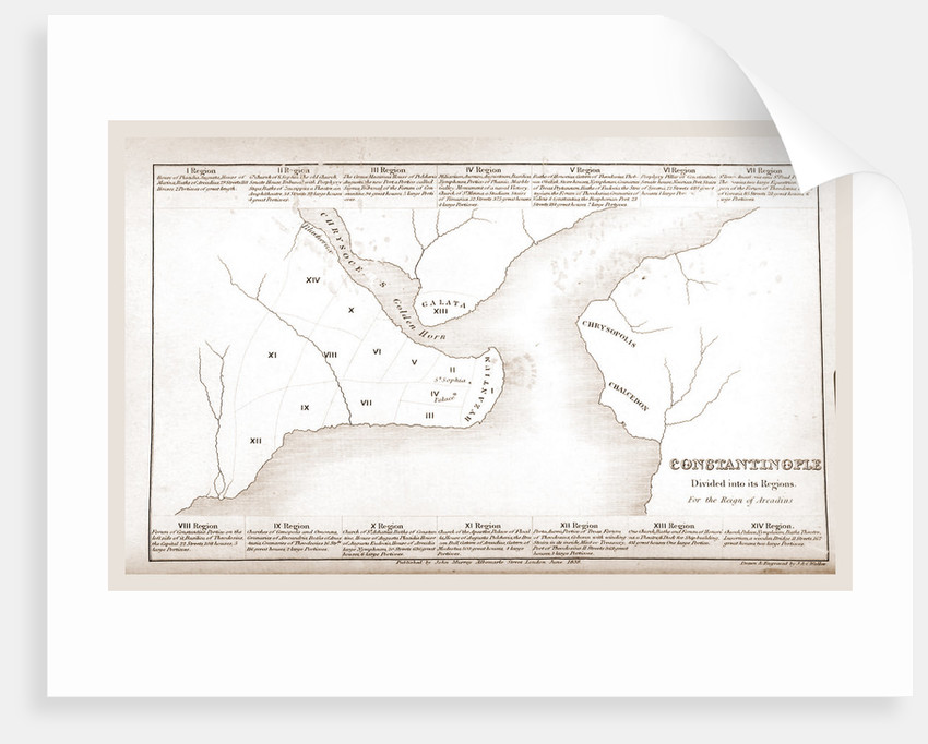 Constantinople, Istanbul, map by Anonymous