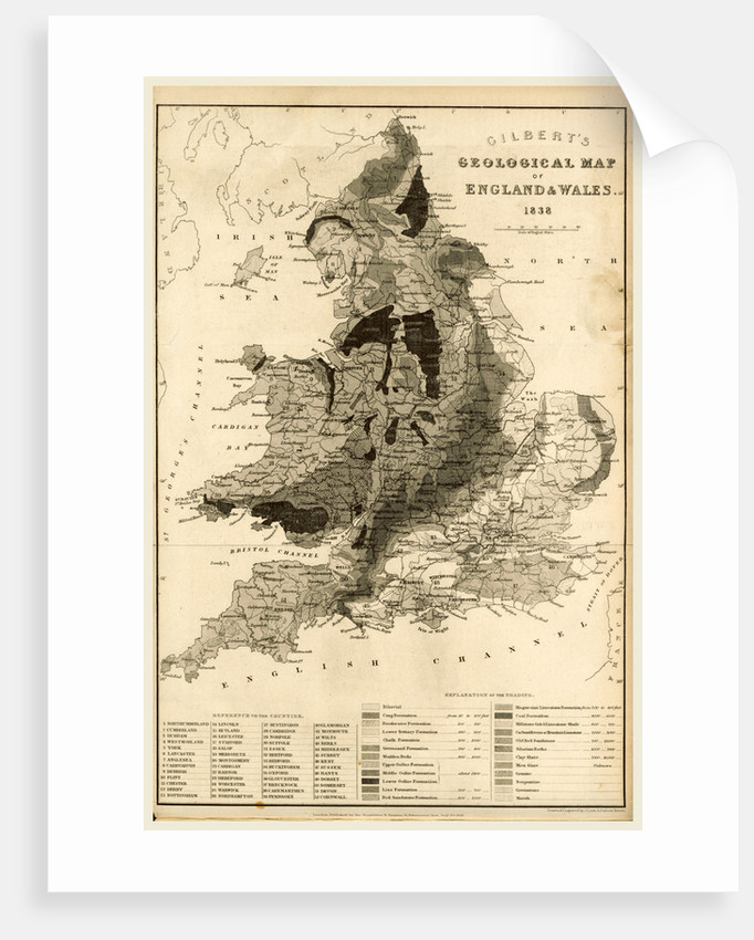 Map England and Wales 1838 by Anonymous