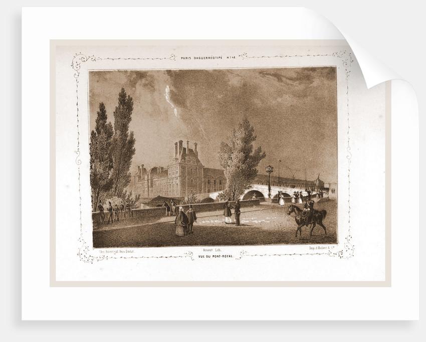 Vue du Pont - Royal, Paris and surroundings by M. C. Philipon