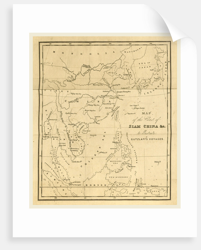Journal of three voyages along the Coast of China, in 1831, 1832, and 1833, map of the coast of Siam China to illustrate Gutzlaffs voyages by Anonymous