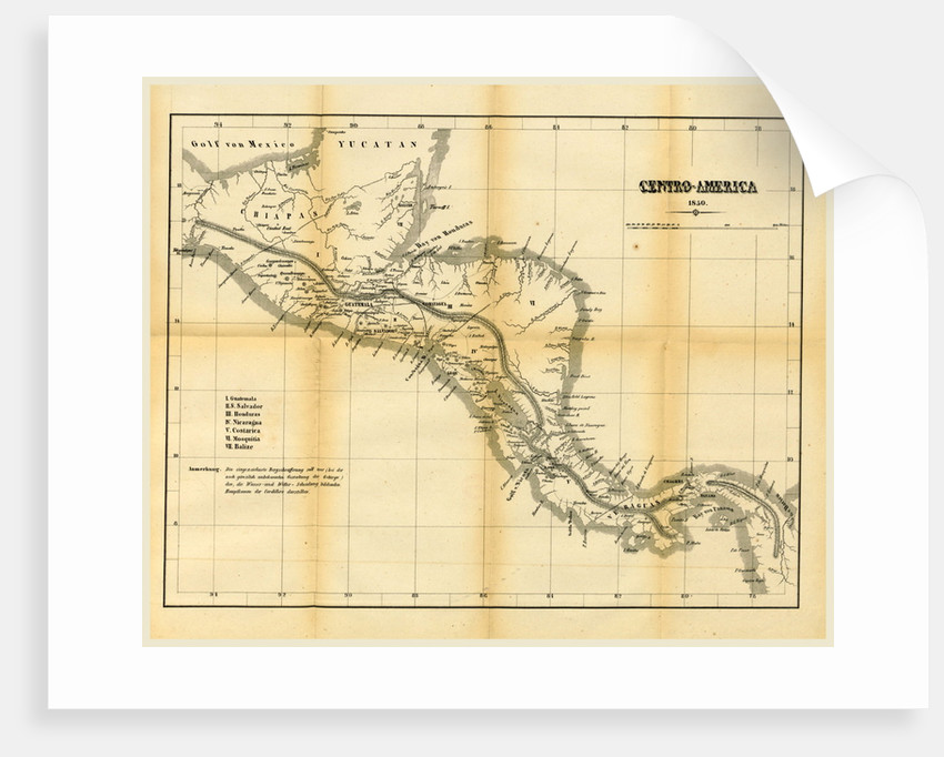 Map Centro America by Anonymous