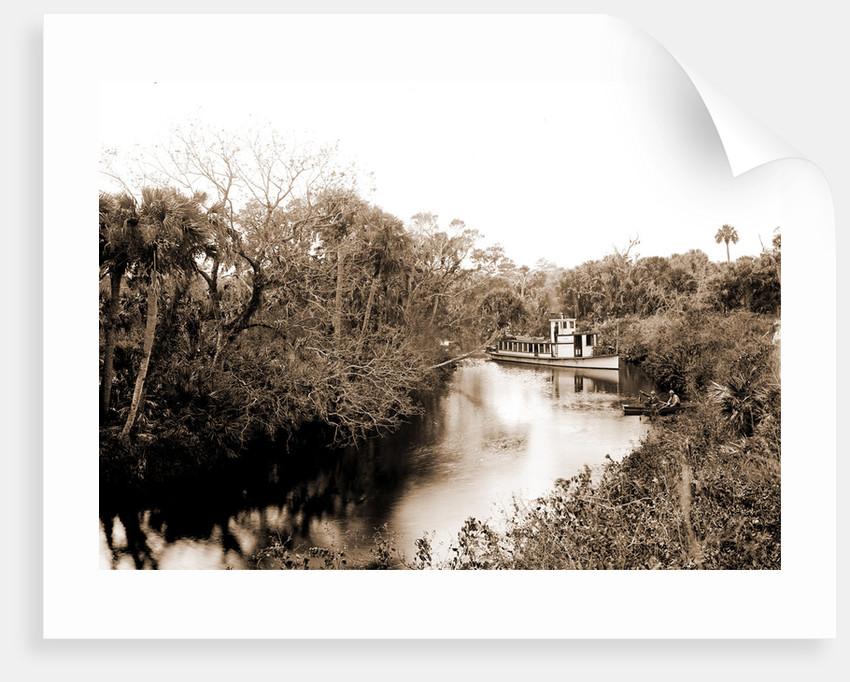 Sebastian Creek, Jackson, Streams, Boats, Bays, United States, Florida, Indian River, United States, Florida, Saint Sebastian, 1880 by William Henry