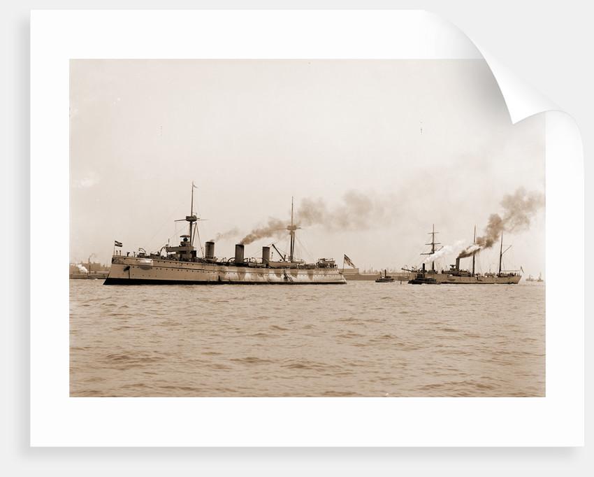 Kaiserin Augusta and Seeadler, German ships, Kaiserin Augusta (Ship), 1890 by Anonymous