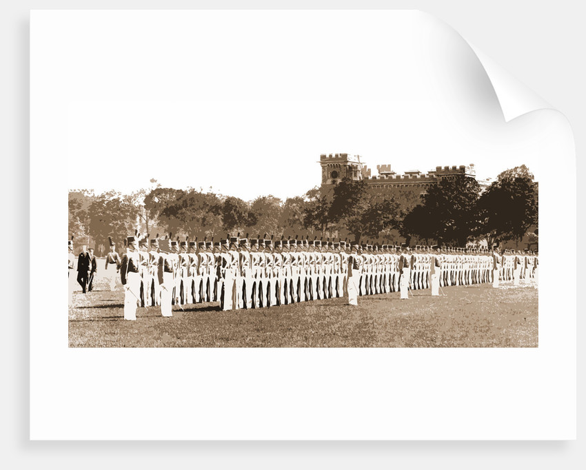 Cadet drill on parade ground by Anonymous