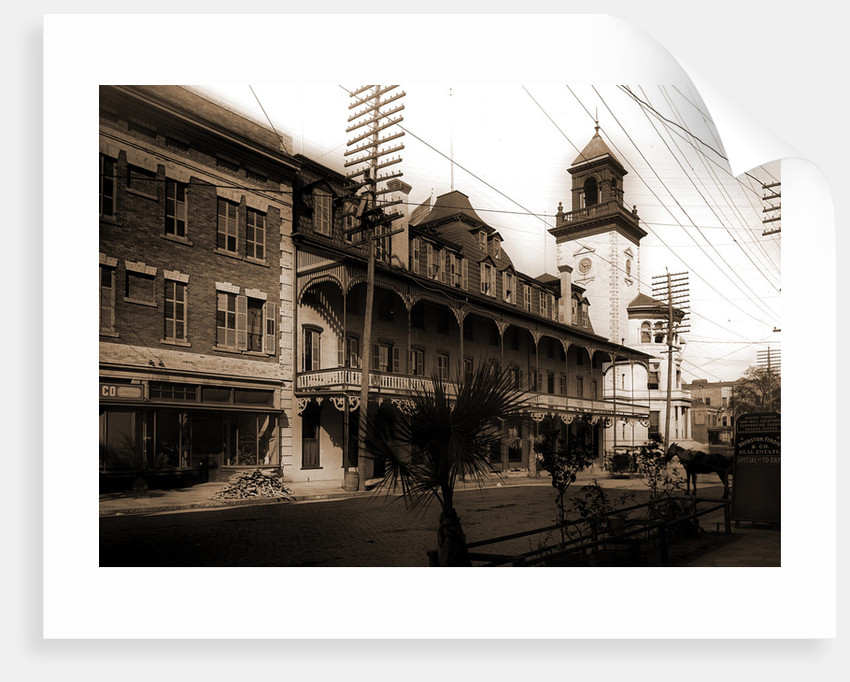 Hotel Duval and Post Office, Jacksonville by Anonymous