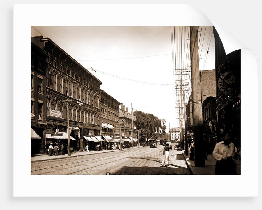 Congress Street toward Monument Square, Portland by Anonymous