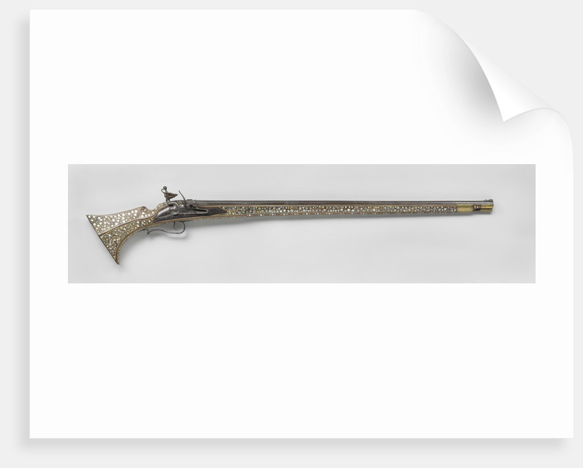 Matchlock Musket with flint lock of later period, Anonymous by Richard Bower