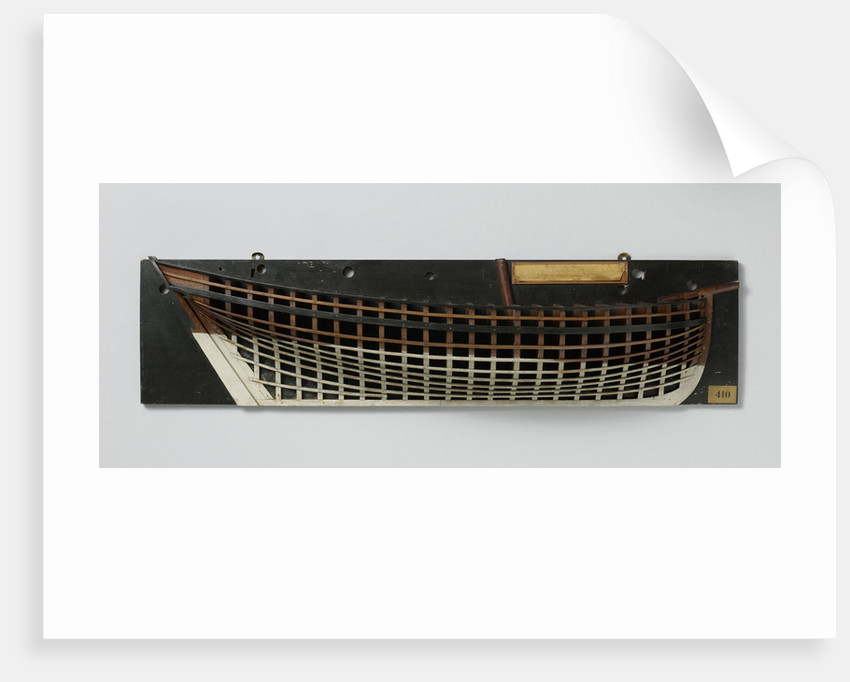 Half Model of a cutter by Anonymous