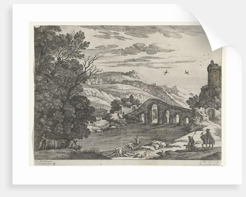 Landscape with a River by Willem van Nieulandt II and Antoine Bonenfant