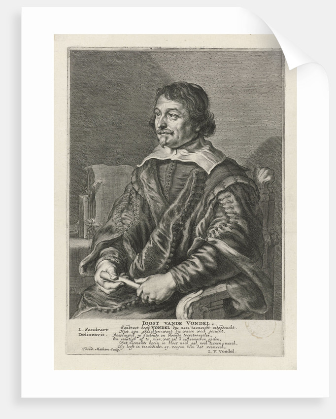 Portrait Of Joost Van Den Vondel