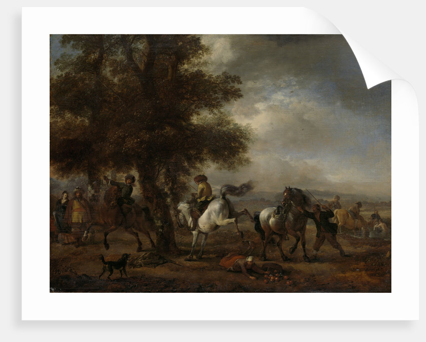 The Kicking White Horse by Philips Wouwerman