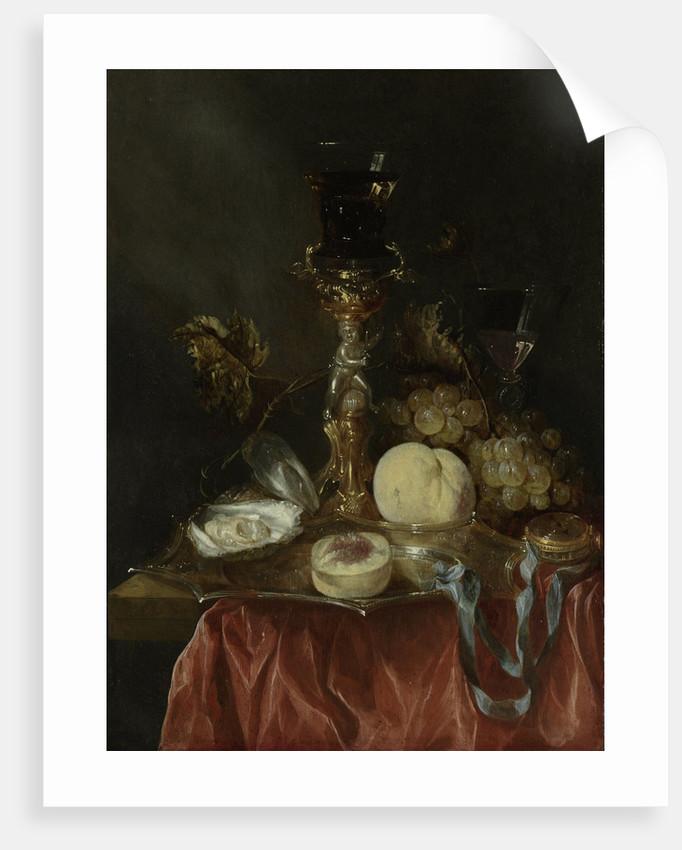 Still Life with Silver-gilt Bekerschroef with Roemer by Abraham Hendricksz. van Beyeren