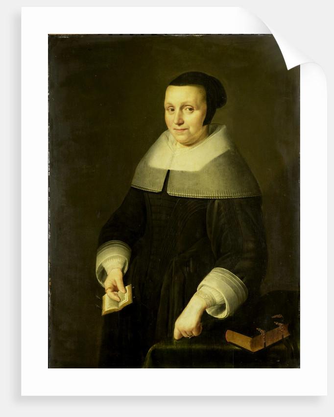 Portrait of a Woman, possibly Elsje van Houweningen, Wife of Willem van de Velden by Anonymous