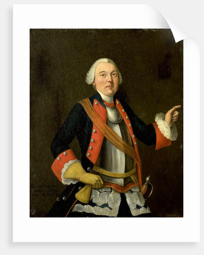 Portrait of Jan Hendrik van Rijswijk by Isaac Lodewijk la Fargue van Nieuwland