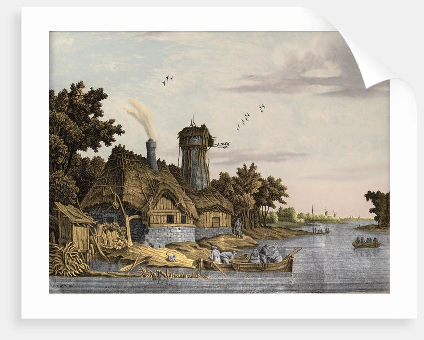 Mill along a River by Jonas Zeuner