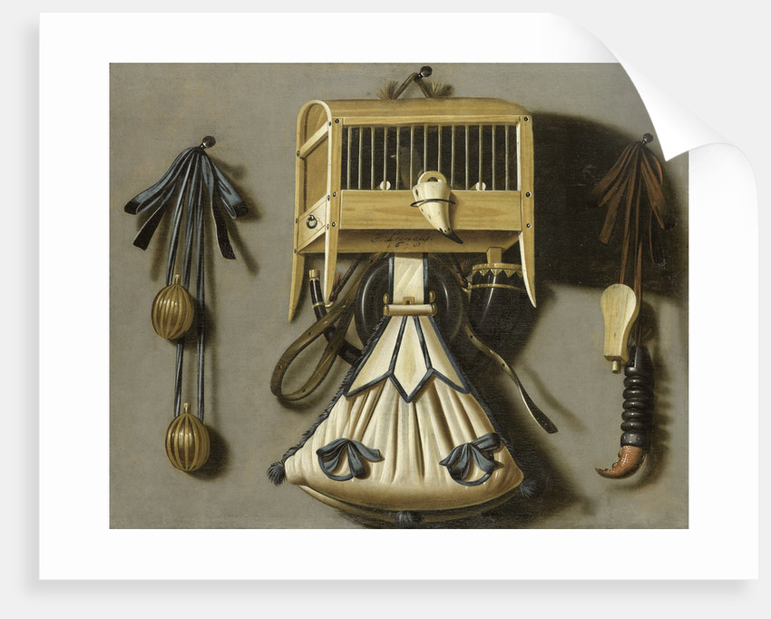 Still Life with Hunting Tackle by Johannes Leemans