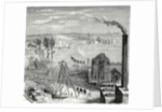 A Coal Mine in Newcastle with Wagons Drawn by Horses on Wooden Rails by Anonymous
