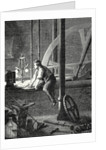 George Stephenson Disassembles and Repairs His Steam Engine in Newcastle by Anonymous