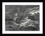 Fire at the Tip of the Mast of Christopher Columbus' Ship by Anonymous