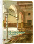Interior of Mosque at Casbah 1885 Algiers by Anonymous
