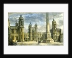 Aberdeen Marichal College Exterior of the Quadrangle 1885 UK by Anonymous