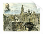 Aberdeen 1885 UK Castle Street and the Municipal Buildings Looking Down Union Street by Anonymous