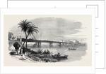 New Bridge Across the Nile Near Cairo Egypt 1873 by Anonymous