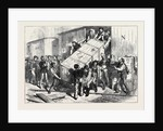 The Vienna Universal Exhibition: Unloading a Train of Goods 1873 by Anonymous