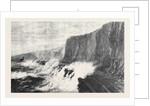 Breach in the South Devon Railway Sea-Wall Near Dawlish 1873 by Anonymous