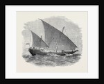 Vessels Used in the Zanzibar Slave Trade: Bugala or Dhow 1873 by Anonymous
