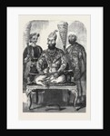 The Eldest Son of the King of Delhi His Treasurer and Physician from a Picture Painted in the Palace at Delhi by Mr. W. Carpenter by Anonymous