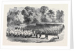 The Oxfordshire Militia in the Garden of St. John's College Oxford by Anonymous