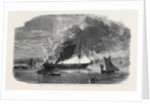 Burning of the Eastern Monarch at Spithead from a Sketch Taken at Haslar Hospital by Anonymous