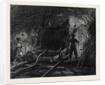 The New Overland Route to India and the Railway Tunnel of the Alps: Boring Machine in the Second Working Gallery 1869 by Anonymous