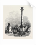 The New Overland Route to India: The Two Columns at Brindisi Marking the Terminus of the Appian Way 1869 by Anonymous