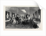 The Prince and Princess of Wales in Egypt: Saloon of the Dahabieh or Nile Boat 1869 by Anonymous
