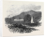 Machurda Village India with the Tomb of Captains Latouche and Hebbert Killed in Conflict with the Wagheers 1869 by Anonymous