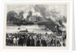 Oxford and Cambridge Universities Boat Race: The Start from Putney London UK 1869 by Anonymous