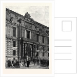New Buildings of the Tuileries: The Emperor's Gateway Paris France 1869 by Anonymous