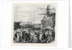 Embarkation of Dockyard Workmen As Emigrants at Portsmouth UK 1869 by Anonymous