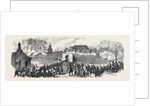 The Volunteer Review at Portsmouth: The Defending Force Concentrating at King William's Gate UK 1869 by Anonymous