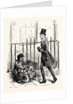 Charles Dickens Sketches by Boz Hurrying Along a by-Street Keeping As Close As He Can to the Area Railings a Man of About Forty or Fifty Clad in an Old Rusty Suit of Threadbare Black Cloth by Anonymous