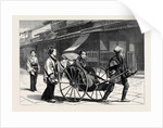 Japan: Scene in Temple Street Nagasaki 1874 by Anonymous