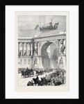 Arrival of the Emperor of Austria at St. Petersburg Russia 1874 by Anonymous