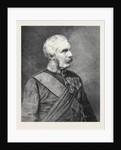 General Sir Frederick Paul Haines G.C.B. C.I.S. Commander-in-Chief of the Army in India 1879 by Anonymous