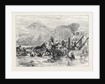 The Zulu War: Troops on Their Way to the Front Difficulties of Transport 1879 by Anonymous