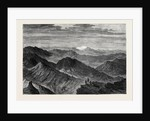 The Afghan War: The Safed Koh Range from the Khoord Khyber 1879 by Anonymous